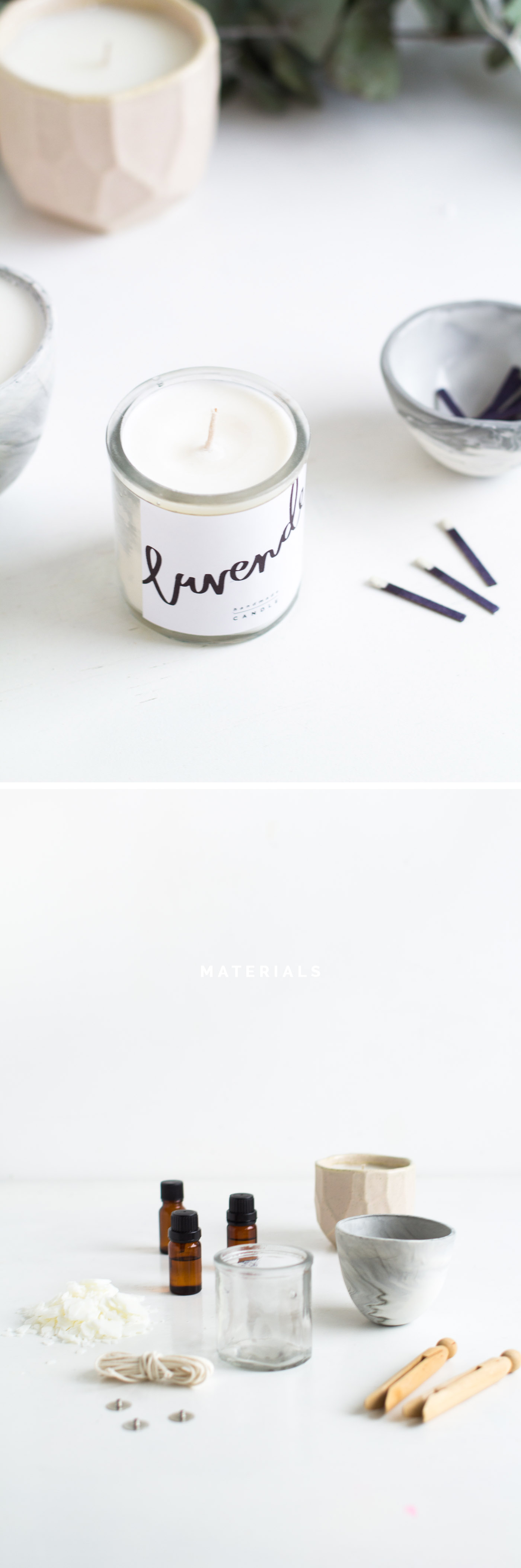 DIY Scented Candle Gifts & Free Printables materials | @fallfordiy