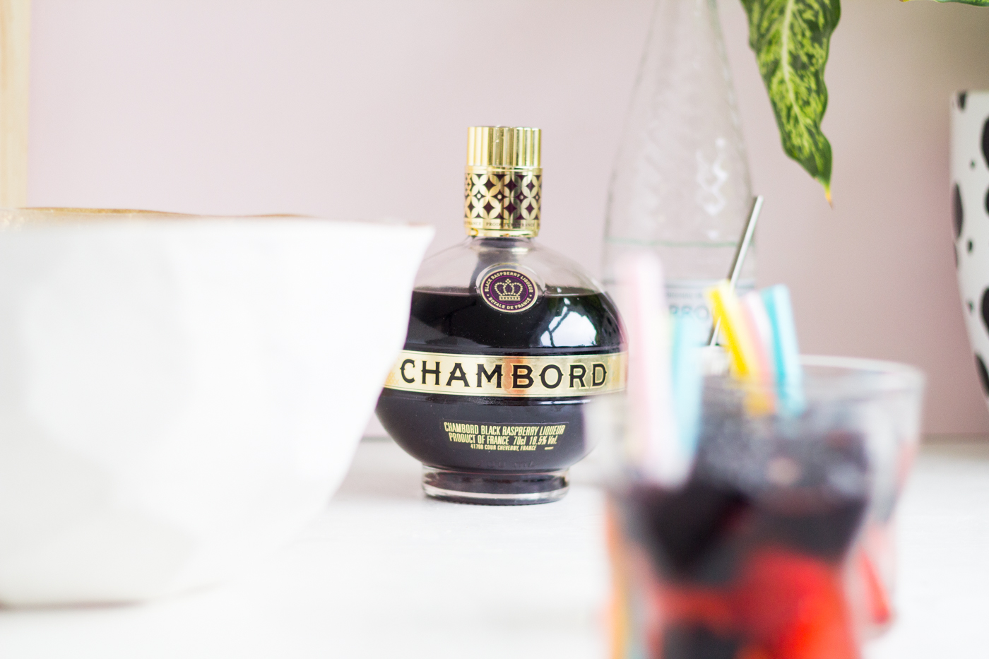 DIY Geometric Punch Bowl _ @fallfordiy with Chambord