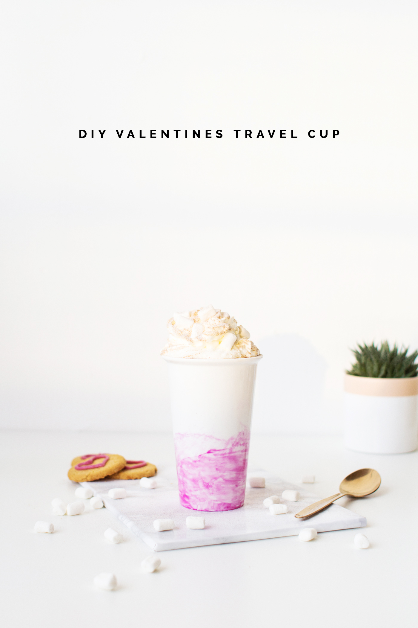 DIY Watercolour Valentines Travel Cup | @fallfordiy