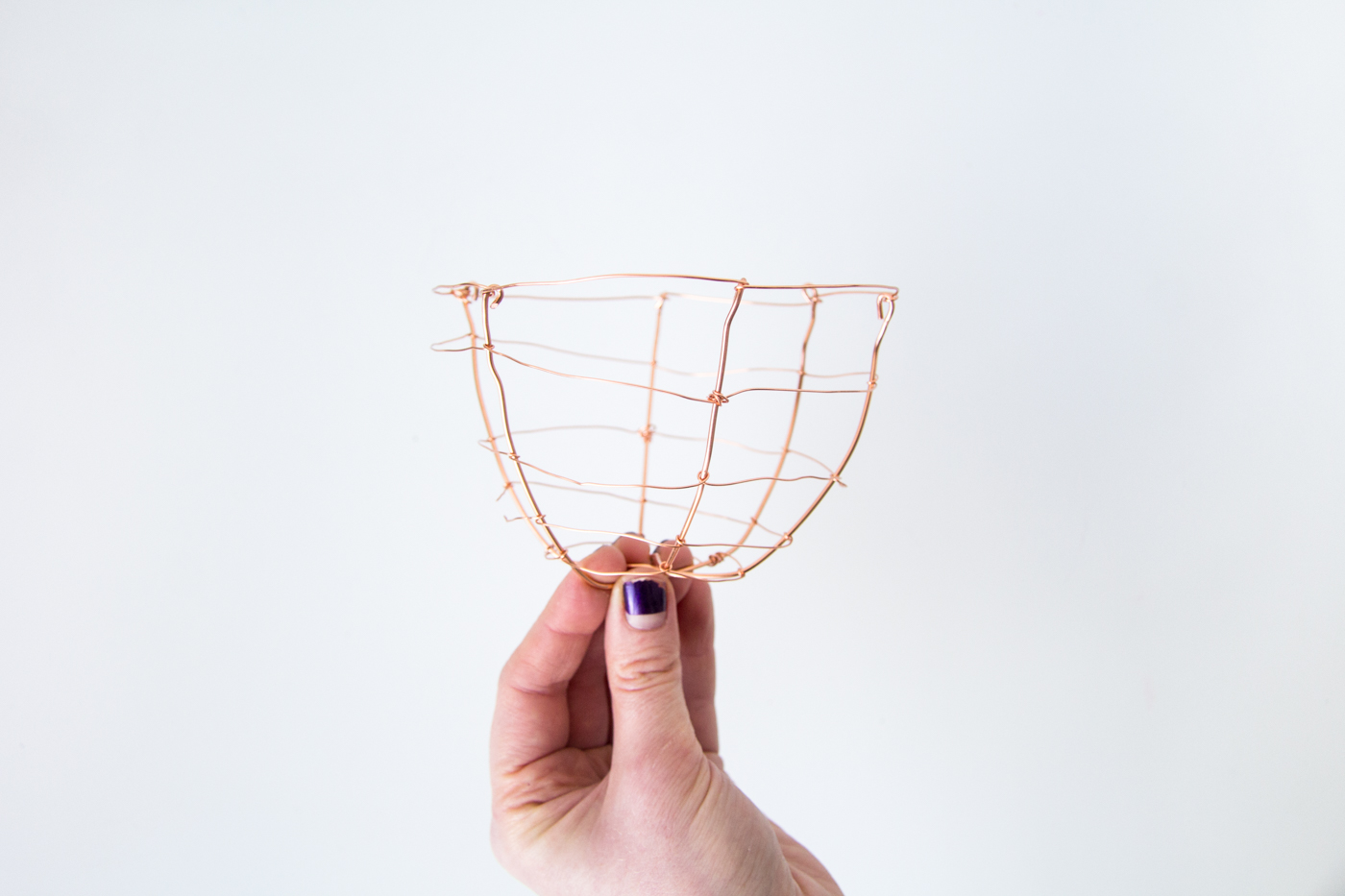 DIY Copper Wire Easter Egg Baskets | @fallfordiy Step 7b