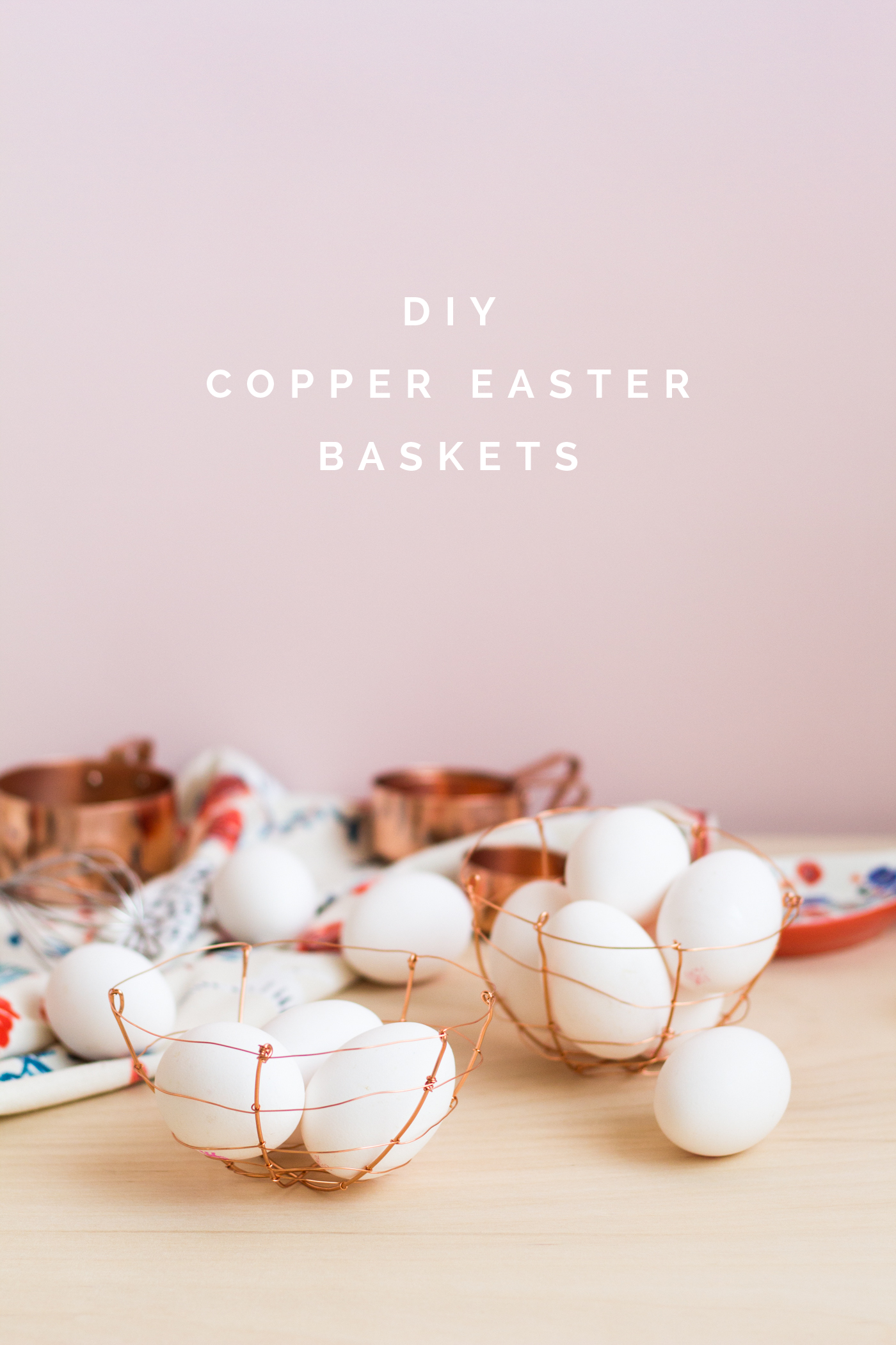 DIY Copper Wire Easter Egg Baskets tutorial | @fallfordiy