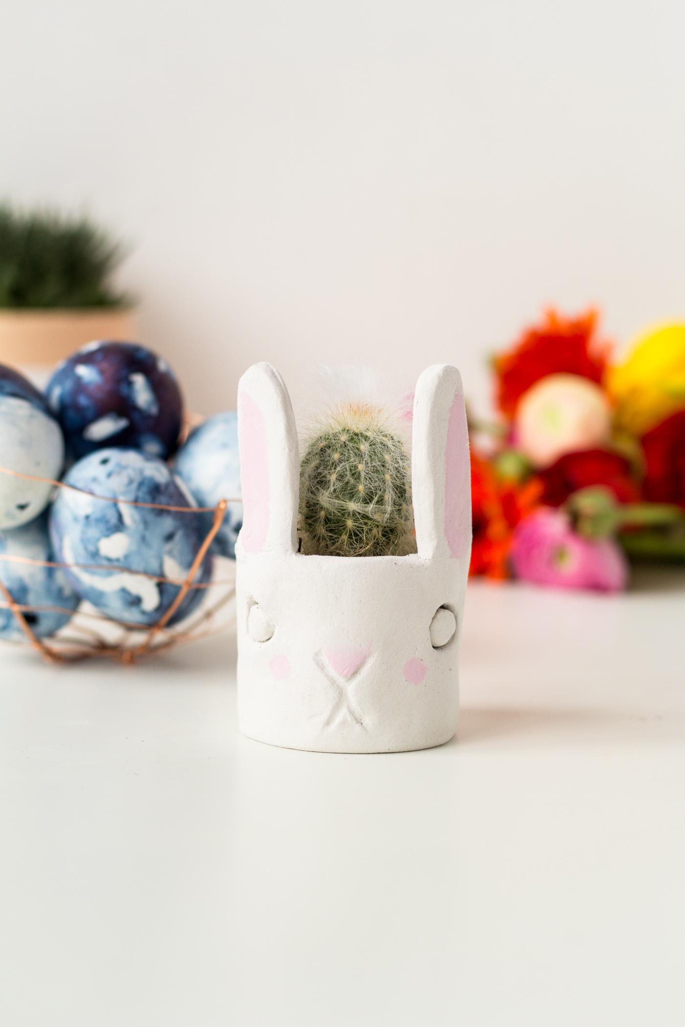 DIY Mini Cacti Bunny Planter | @fallfordiy-17