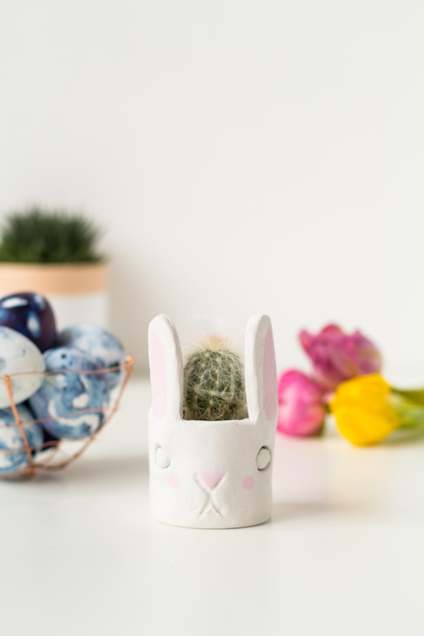 DIY Mini Cacti Bunny Planter | @fallfordiy-20