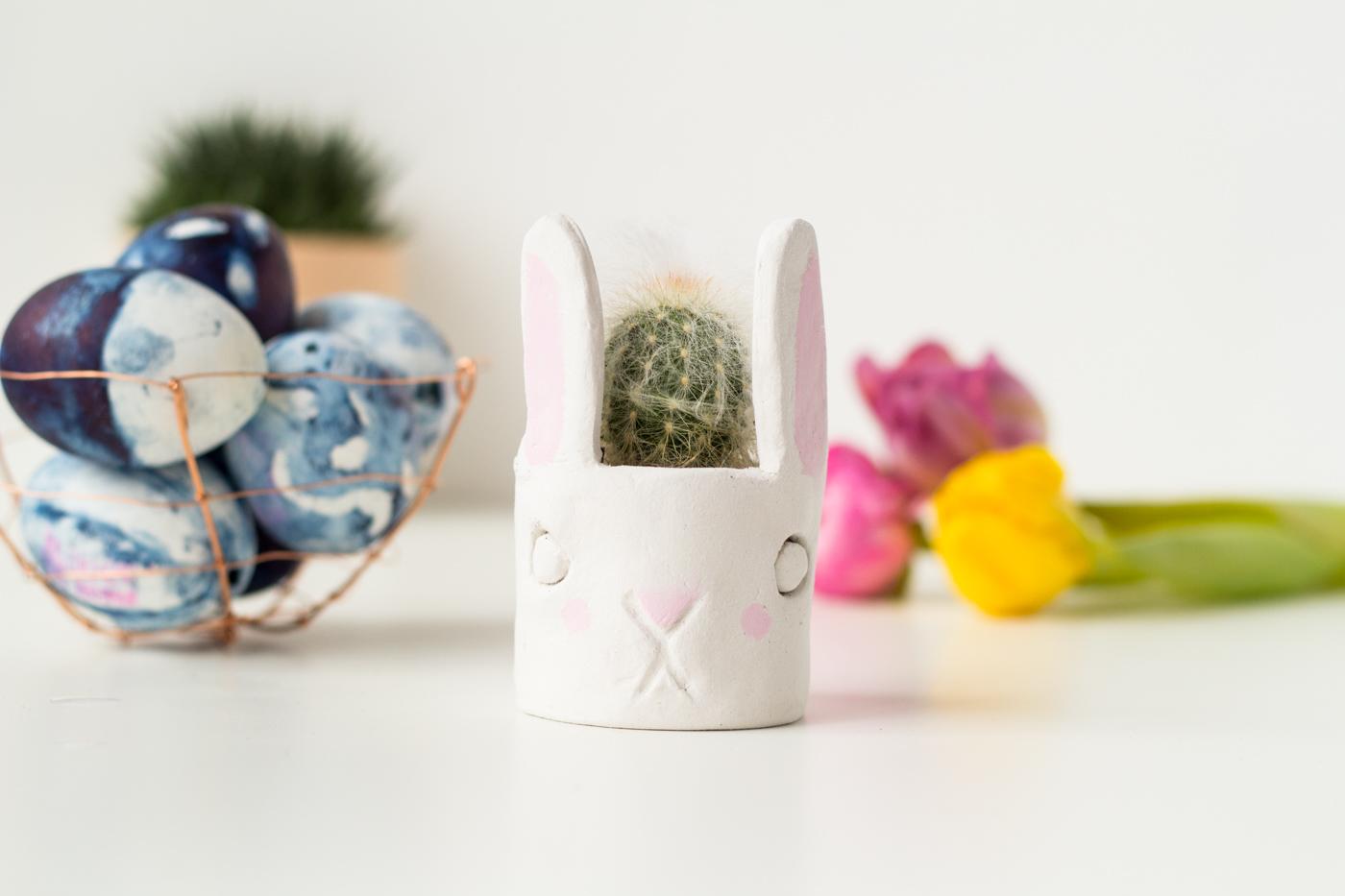 DIY Mini Cacti Bunny Planter | @fallfordiy-21