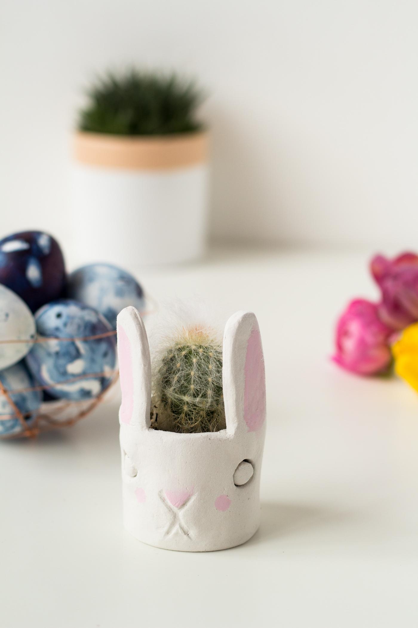 DIY Mini Cacti Bunny Planter | @fallfordiy-23