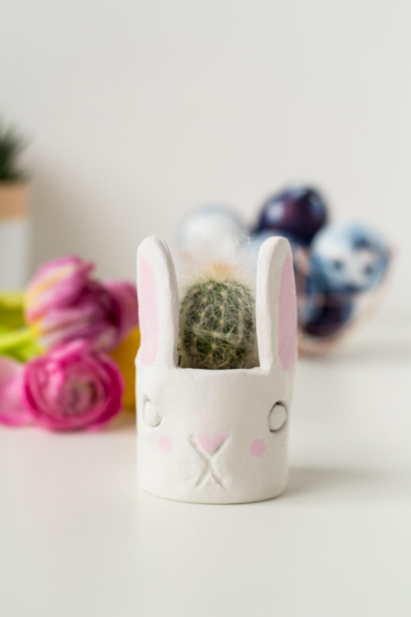 DIY Mini Cacti Bunny Planter | @fallfordiy-30