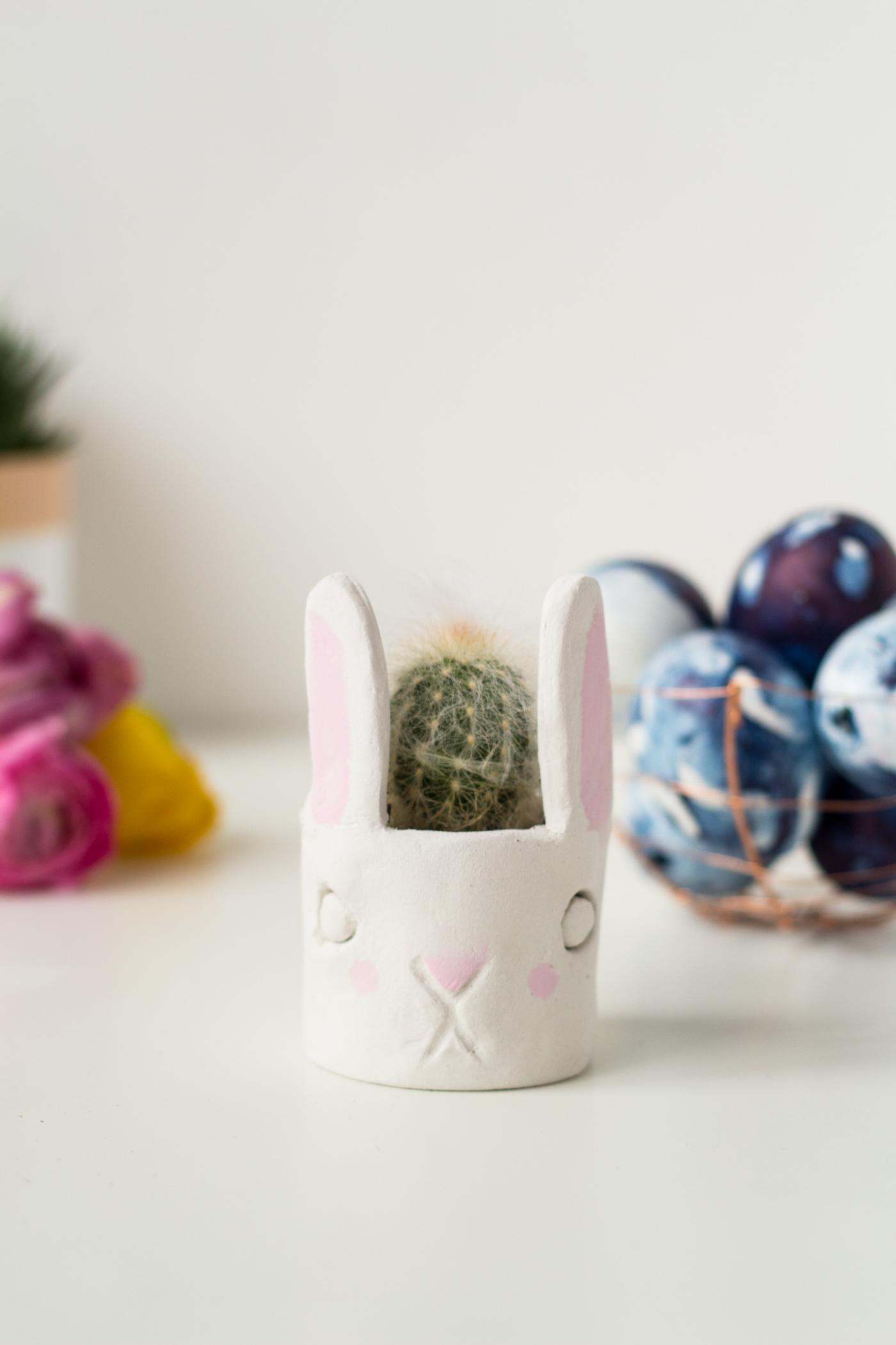 DIY Mini Cacti Bunny Planter | @fallfordiy-35