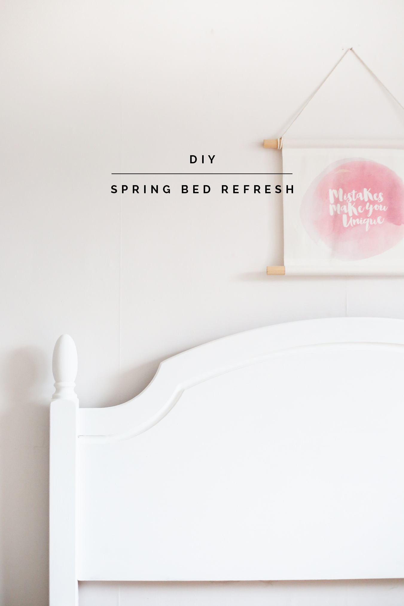 DIY Spring Bed Refresh | @fallfordiy