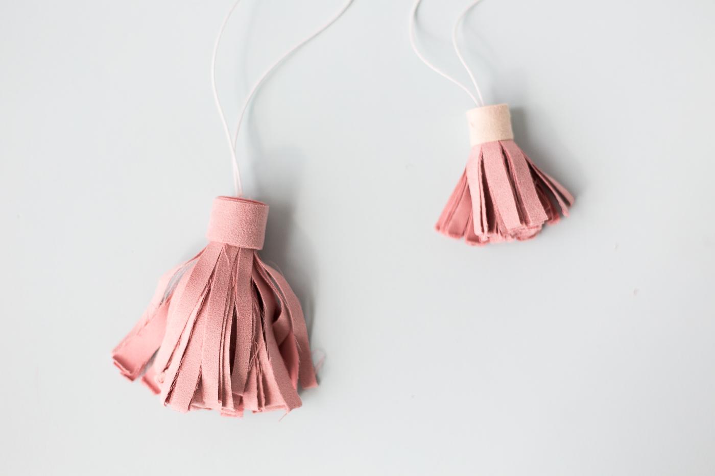 DIY Hanging Suede Tassels