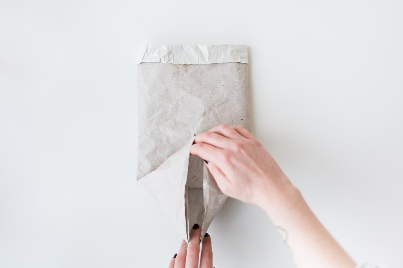 Packing Paper Sack Planters | @fallfordiy-12