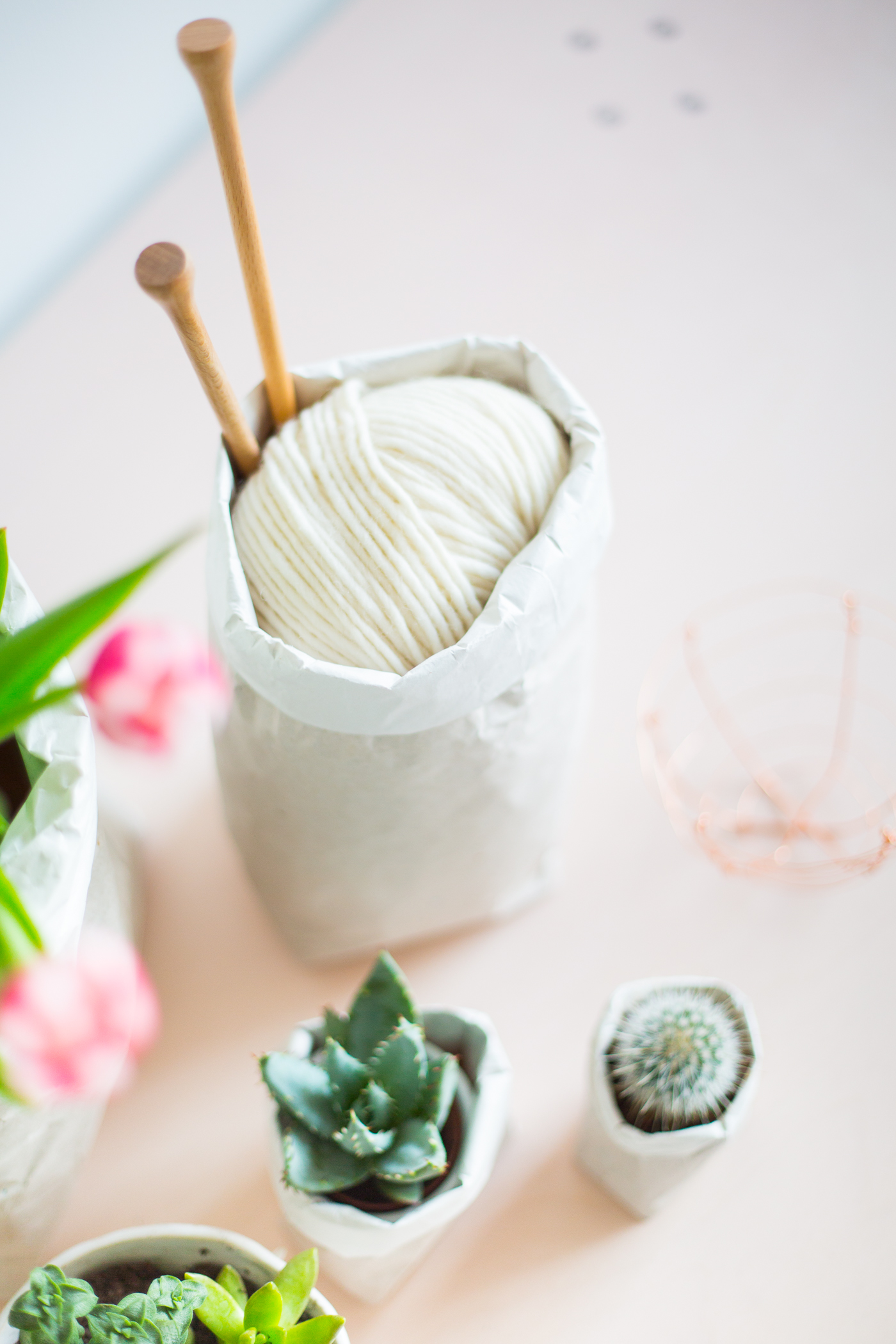 DIY Packing Paper Sack Planters | @fallfordiy