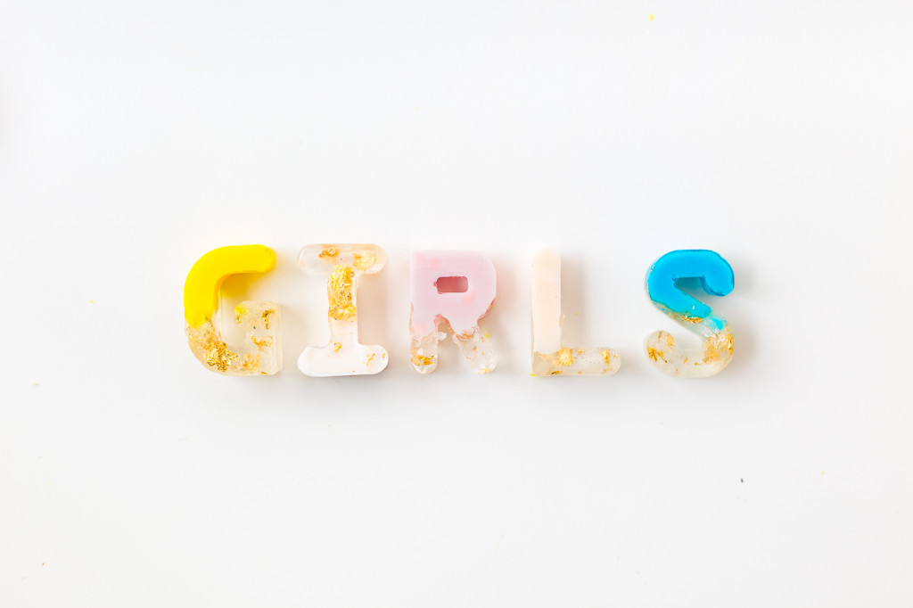DIY Gold Leaf Colour Pop Letter Soaps | @fallfordi