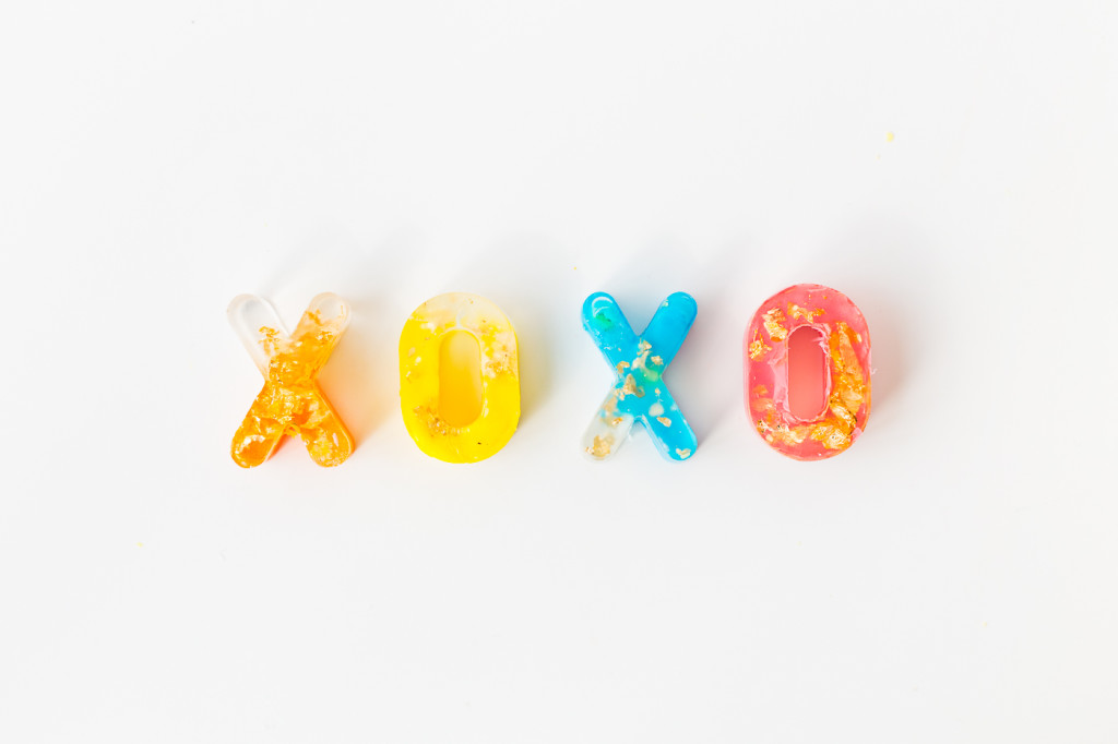 DIY Gold Leaf Colour Pop Letter Soaps | @fallfordiy