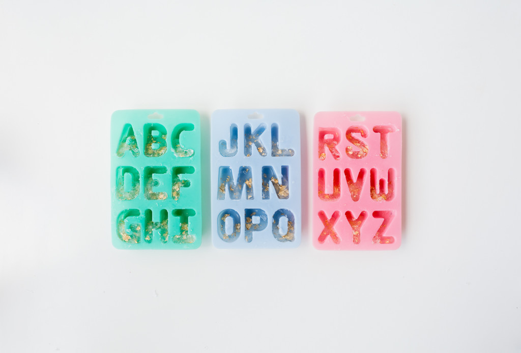 DIY Gold leaf Colour Pop Letter Soaps | @fallfordiy-2