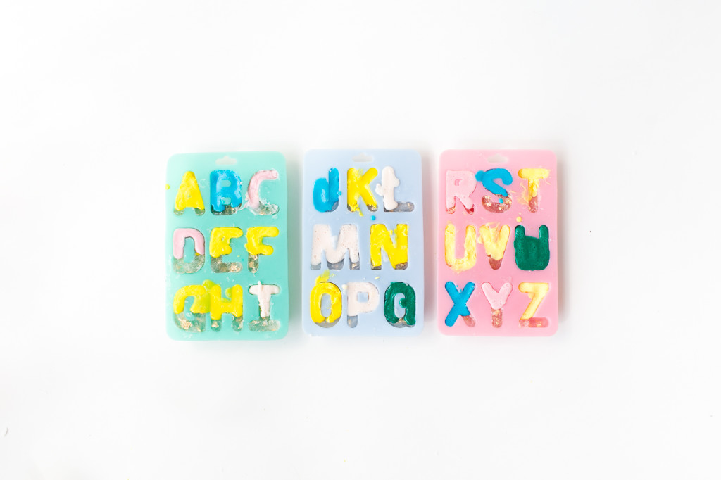 DIY Gold leaf Colour Pop Letter Soaps | @fallfordiy-5