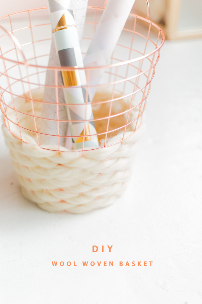 Diy Wool Woven Paper Basket Fall For Diy