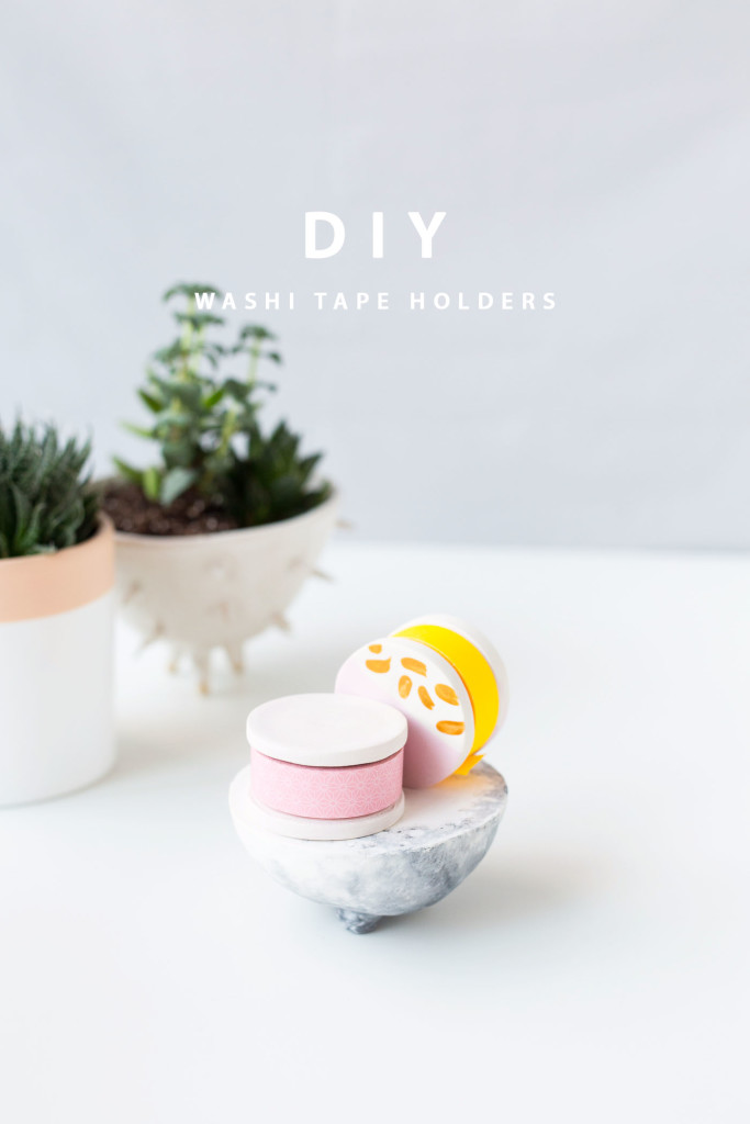 Washi Tape Holder Tutorials with FIMO | @wemakecollective & @fallfordiy-25