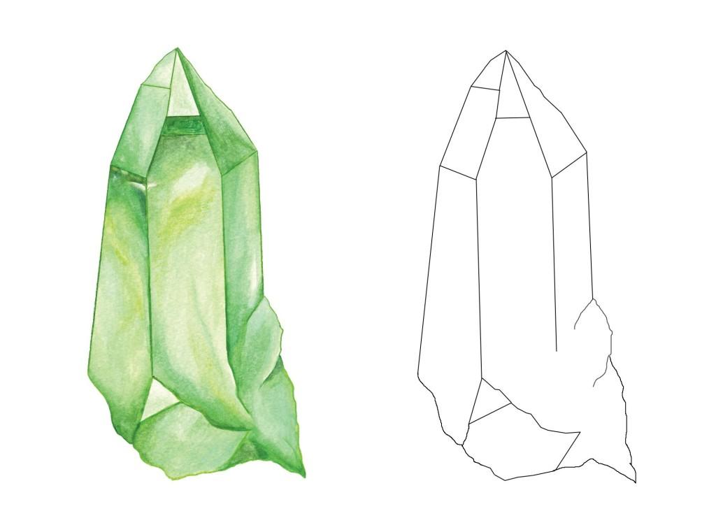 tan crystal