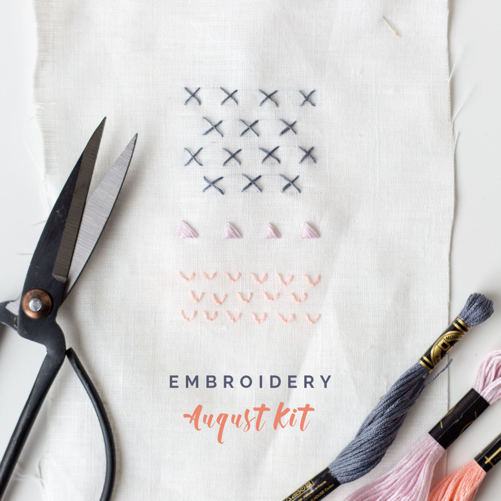 Embroidery kit August
