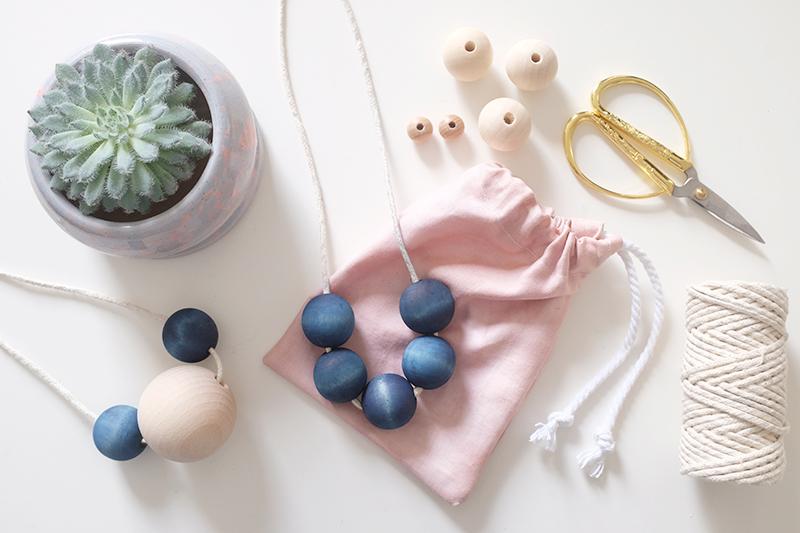 We Make Collective Relaunch Day 7   Indigo beads and Avocado pouches