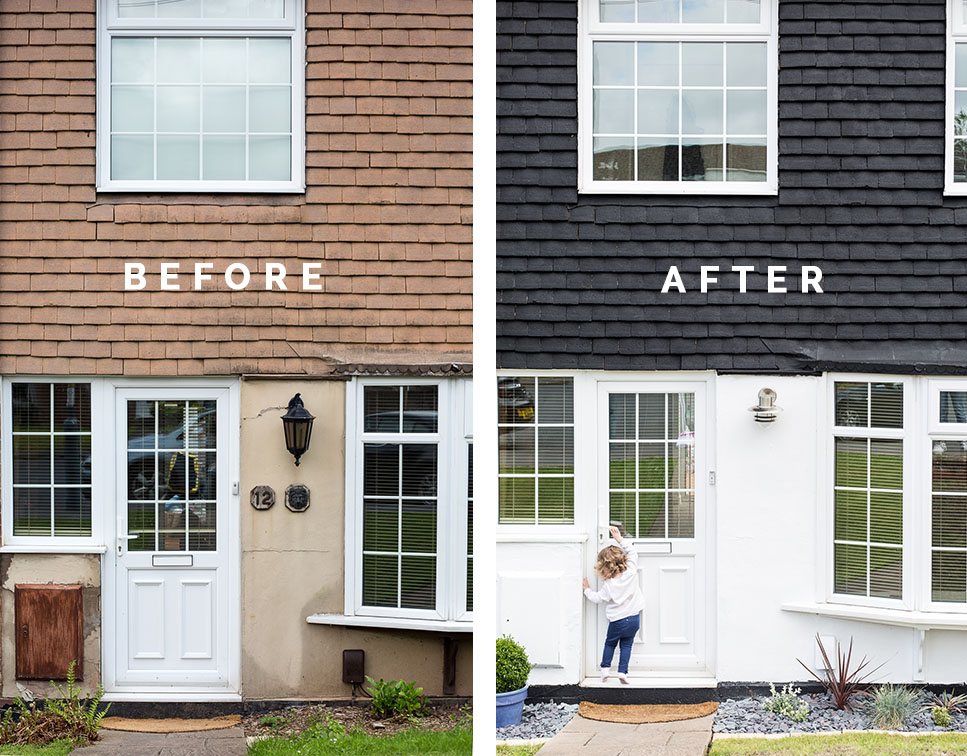 Home Entrance before & After   @fallfordiy