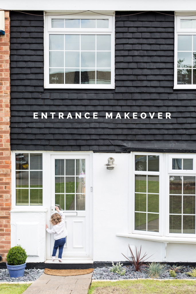 Entrance makeover before and After with B&Q | @fallfordiy