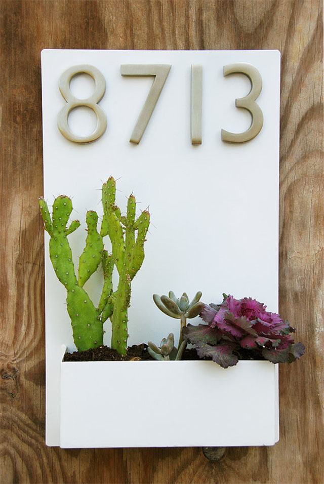 Home entrance inspiration - numbers box