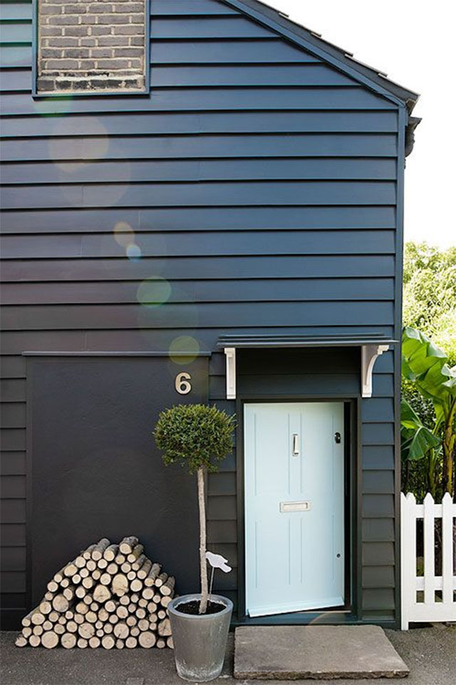 Kerb appeal entrance inspiration fall for diy - Black and grey house ...