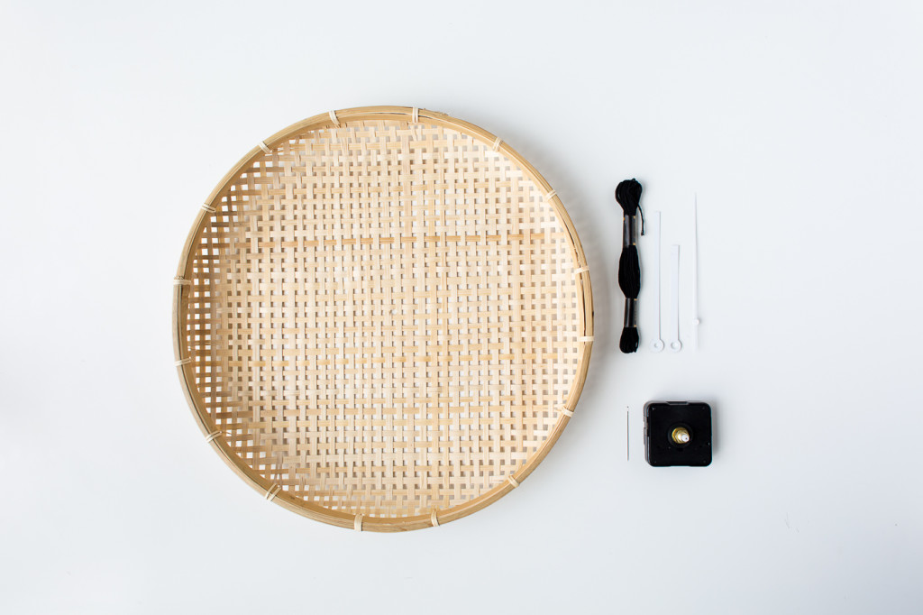 Make a DIY Embroidered Basket Clock-1