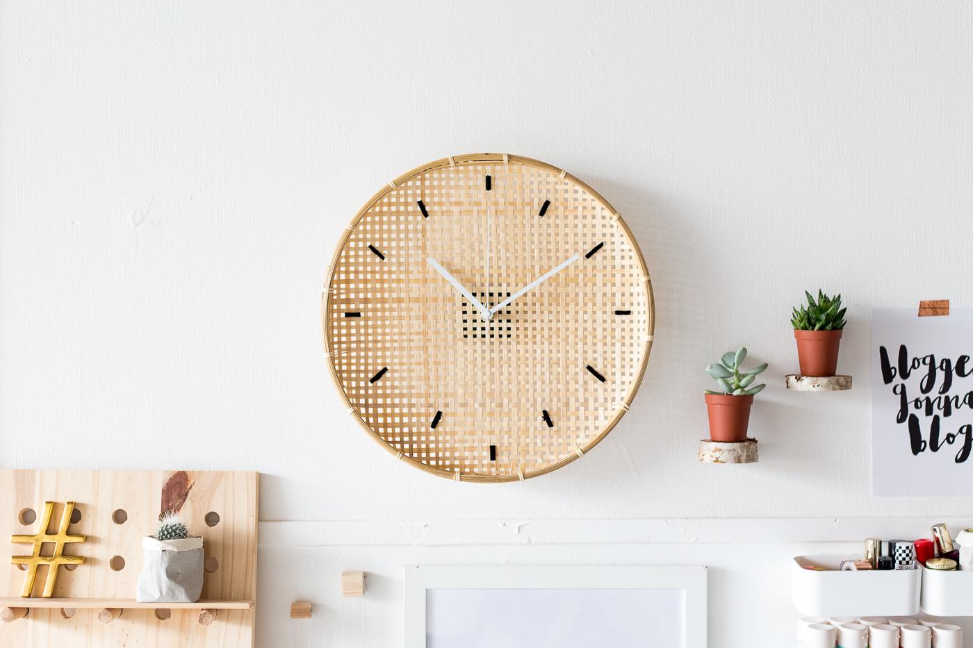 Make a DIY Embroidered Basket Clock