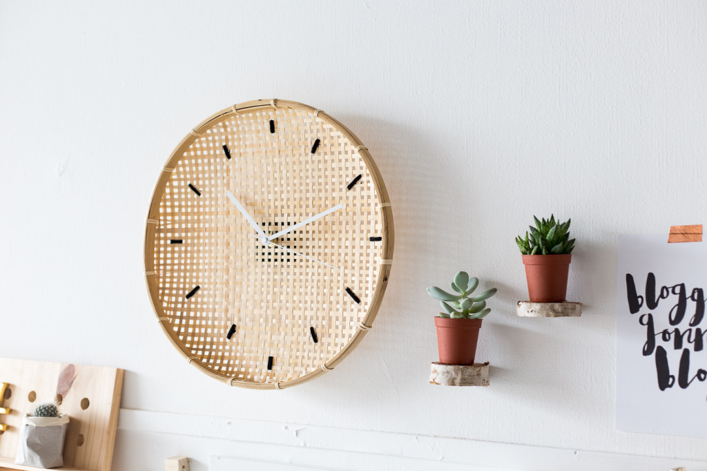 Make a DIY Embroidered Basket Clock-15