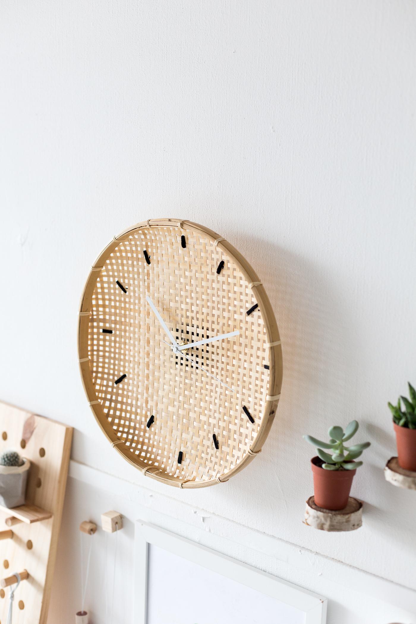make a diy embroidered basket clock fall for diy. Black Bedroom Furniture Sets. Home Design Ideas