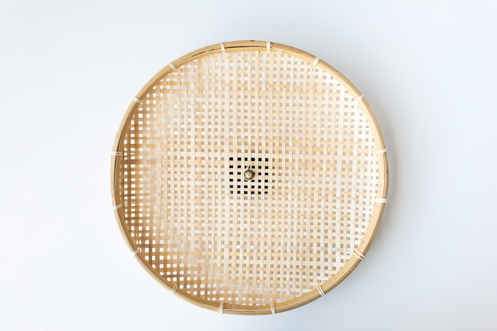 Make a DIY Embroidered Basket Clock-3