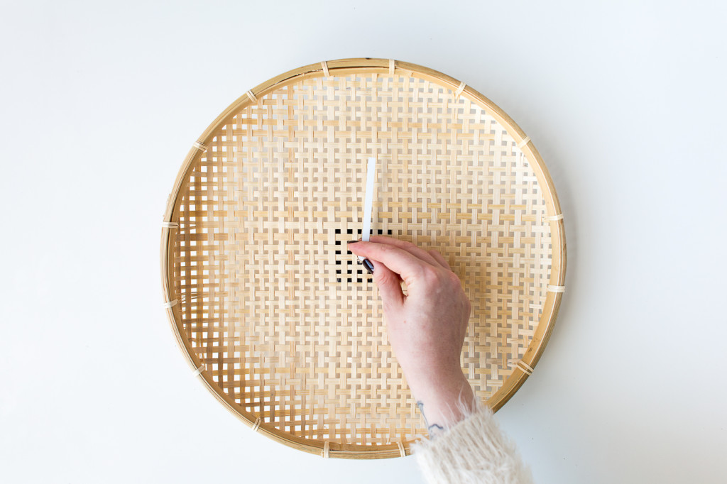Make a DIY Embroidered Basket Clock-4