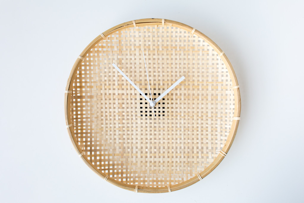 Make a DIY Embroidered Basket Clock-5