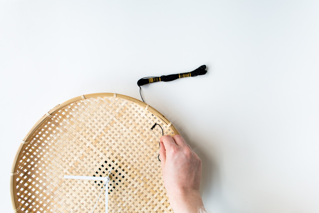Make a DIY Embroidered Basket Clock-6