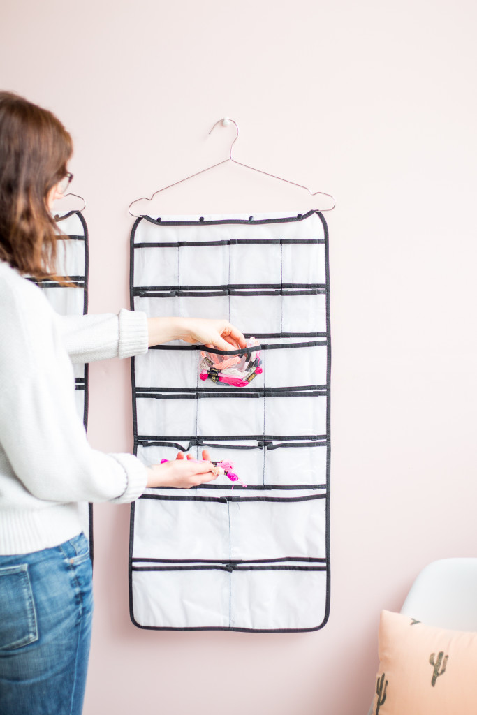 Organising your craft space | how to use hanging storage to stay tidy-2