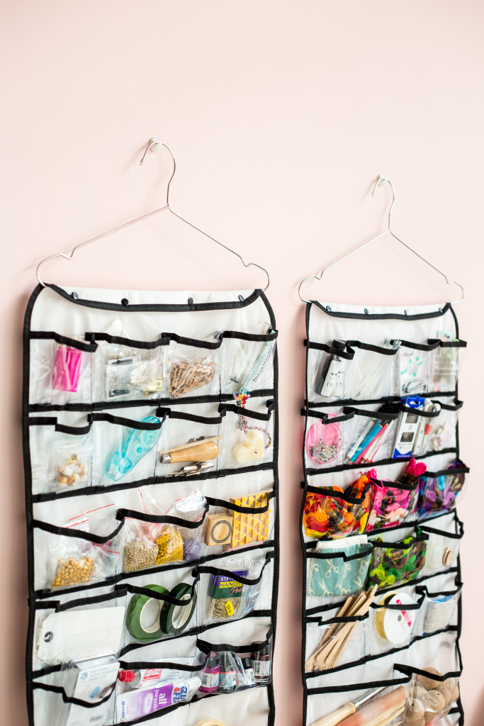 Organising your craft space   how to use hanging storage to stay tidy-4