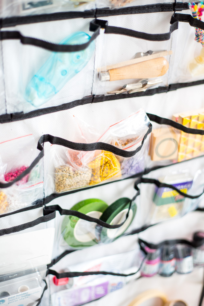 Organising your craft space   how to use hanging storage to stay tidy-6