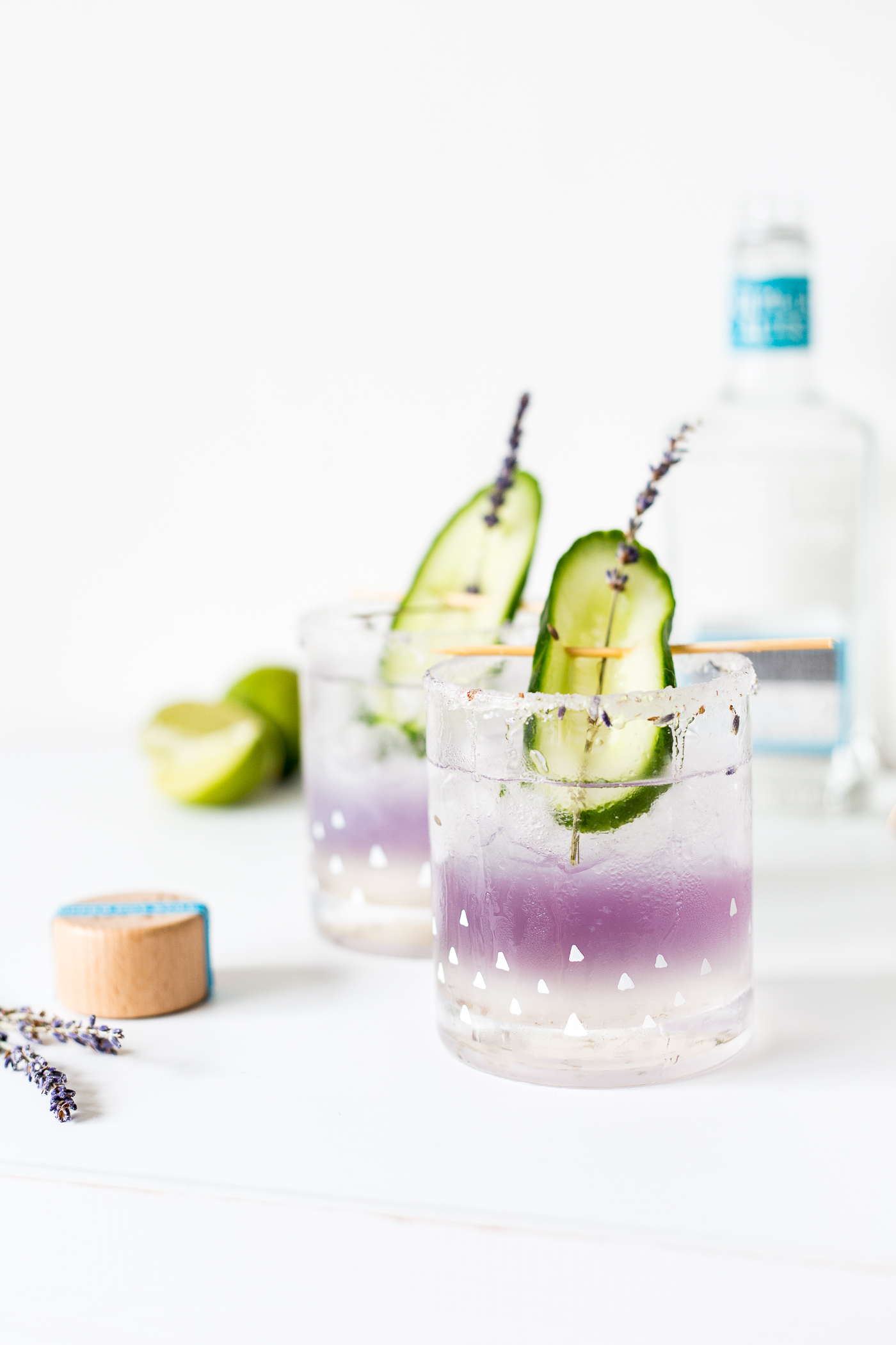 DIY your own Lavender Margaritas and the Glasses to Drink them from too!