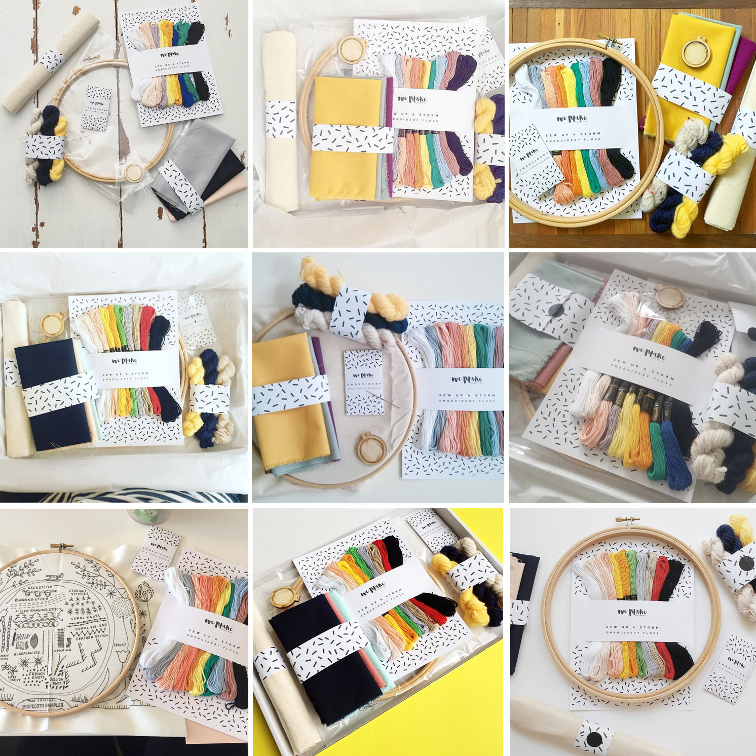 We Make Collective | Highlights from a Hashtag - Your Photos of our Embroidery Kit