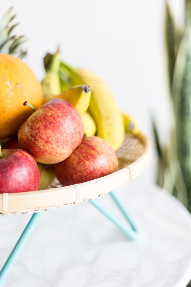 How to make a DIY Midcentury Fruit Basket