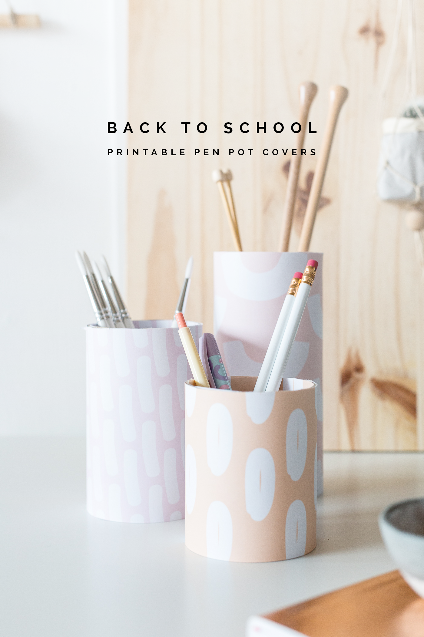 Back to School Printable Pen Pot Covers | @fallfordiy