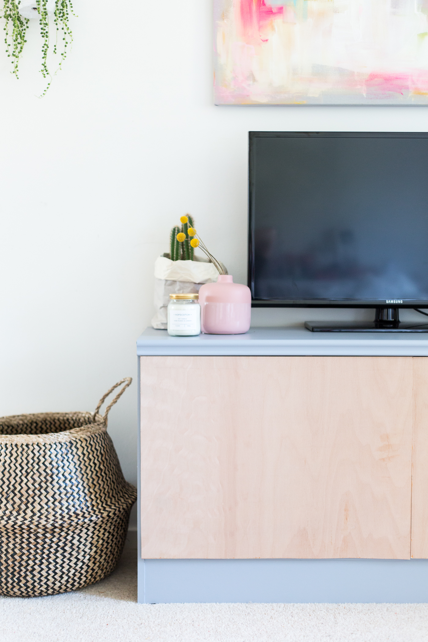 Easy DIY Media Centre Sideboard Makeover