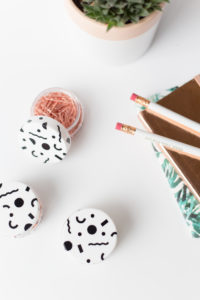 cute sticker patterned storage pots tutorial @fallfordiy