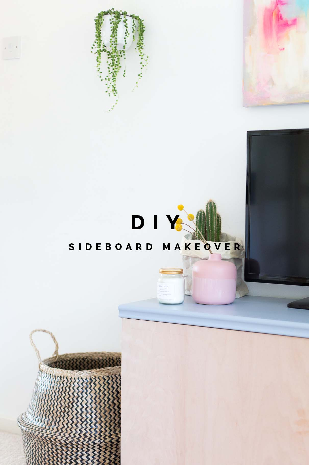 easy-diy-media-centre-sideboard-makeover