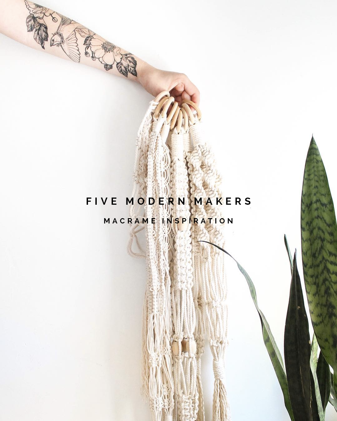 Five Modern Makers - Macrame Inspiration | @fallfordiy