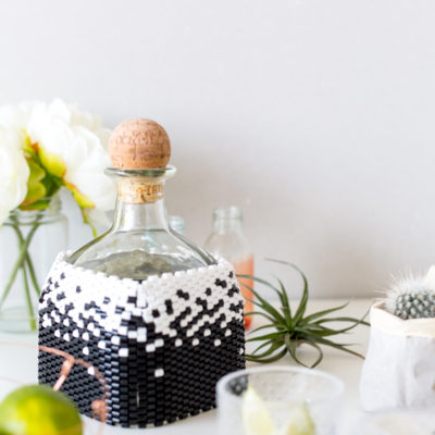 DIY Peyote Stitch Beaded Bottle Cover