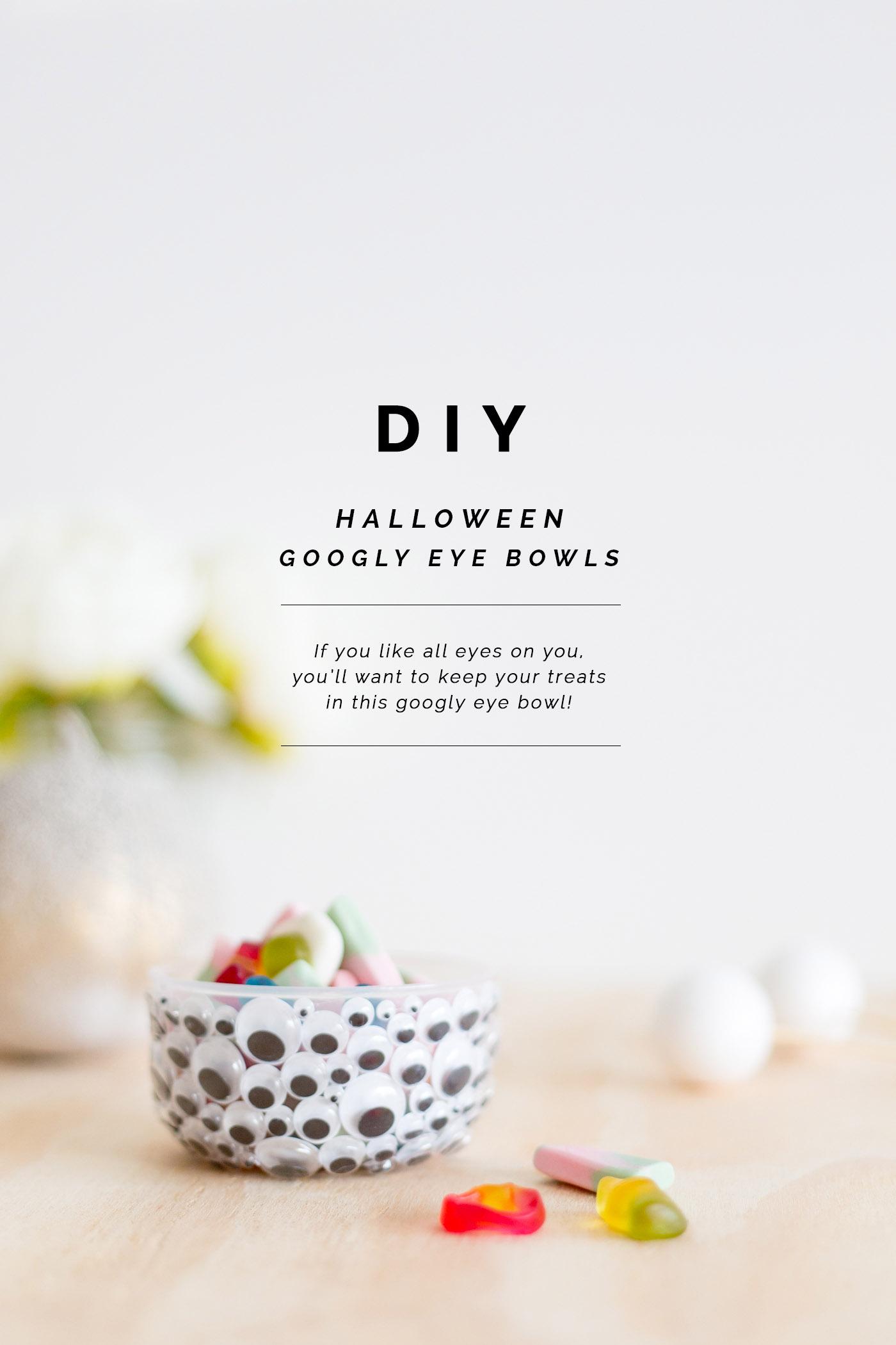 DIY Halloween Googly Eye Bowls | @fallfordiy