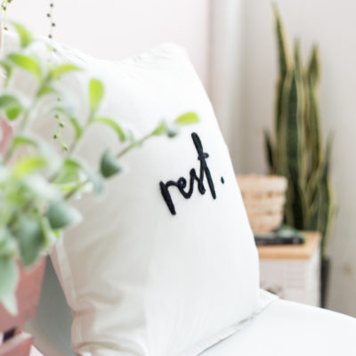 DIY Needle Felted Word Cushion